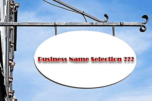 selection procedure of business names